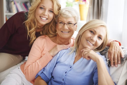 Teen, Mother, and Grandmother with Vibrant Skin